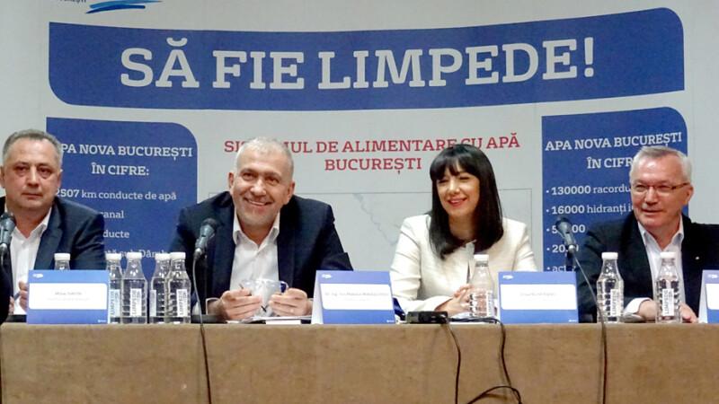 Conferinta de presa organizata de Apa Nova Bucuresti cu ocazia deschiderii unei consultari publice referitoare la serviciile prestate de societate.