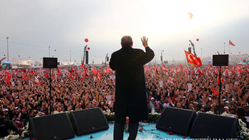 miting al lui Erdogan in Istanbul