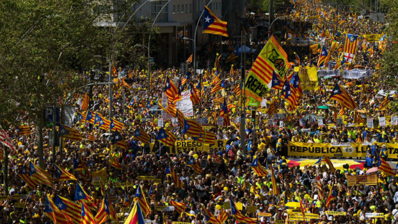 Protest la Barcelona