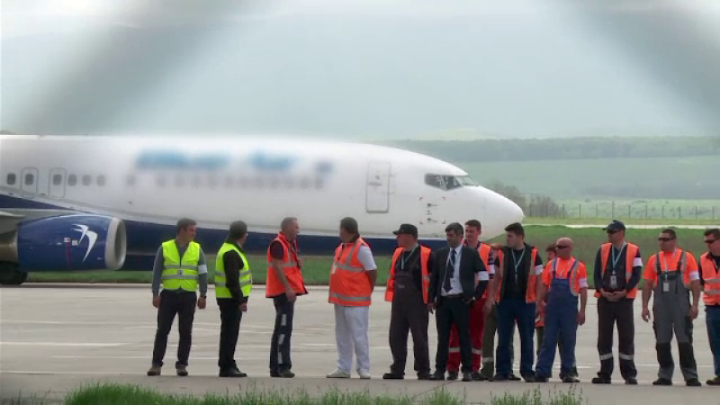 grevă aeroport Sibiu