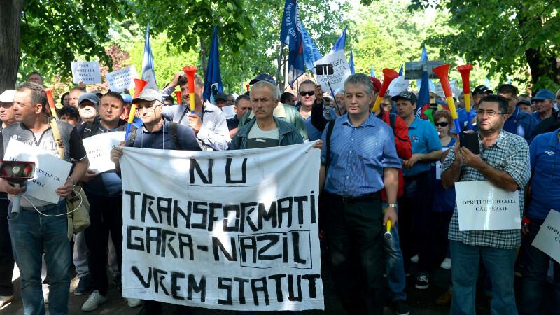Proteste ale sindicaliștilor feroviari