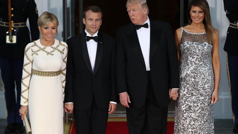 Întâlnire Trump - Macron la Casa Albă