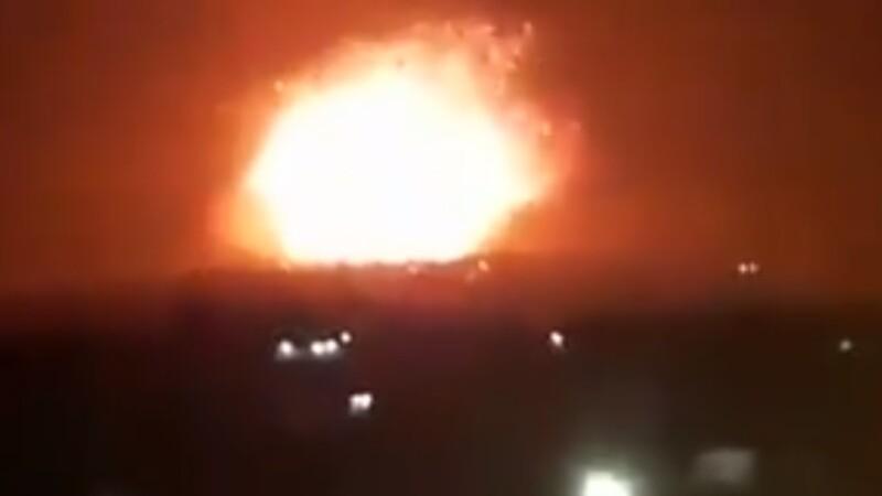 Bază militară din Siria, bombardată probabil de israelieni. 26 de morți. VIDEO
