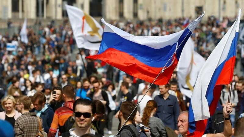 Protest la Moscova