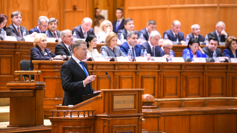 Klaus Iohannis in Parlament - 4