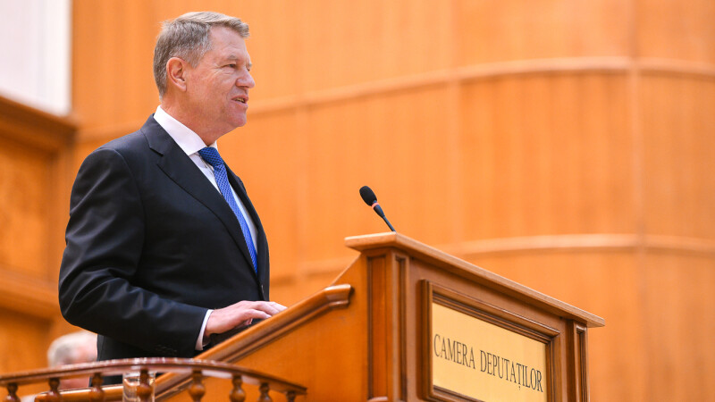 Klaus Iohannis in Parlament - 5