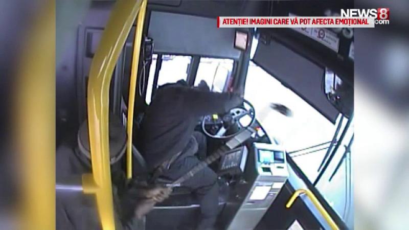 Șofer de autobuz, atacat de un călător
