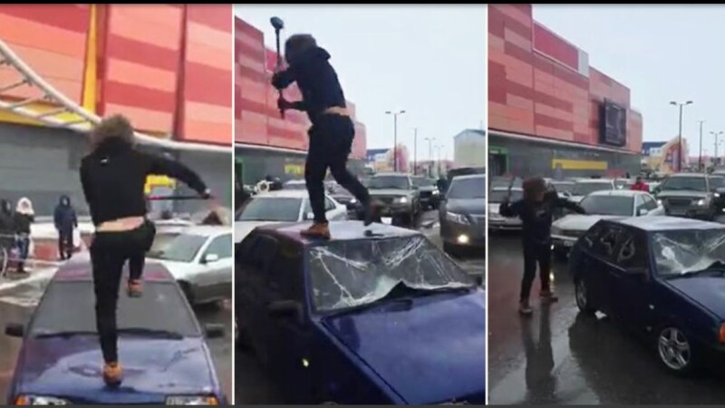 Un rus a distrus cu baronul o mașină lăsată în drumul lui