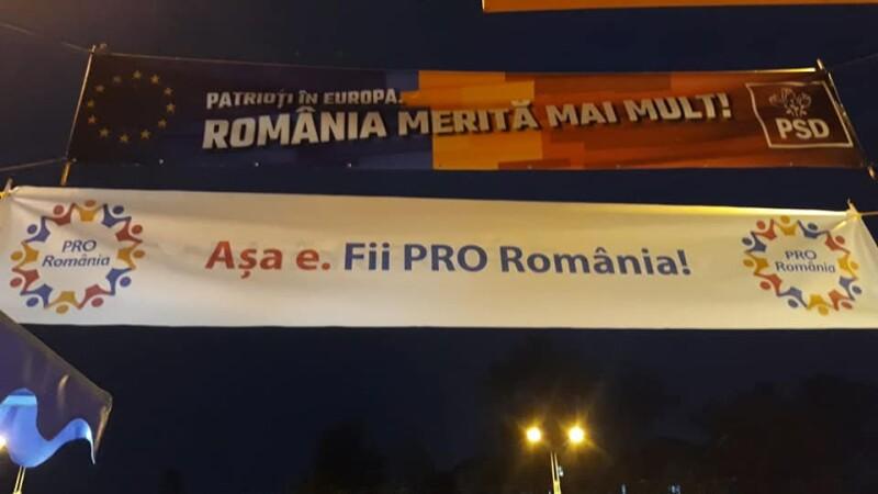 """Partidul lui Ponta atacă PSD pe stradă: """"România merită mult. Așa e, fii Pro România"""""""