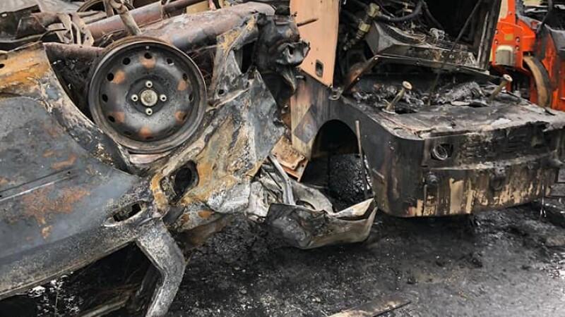 Dezastru pe Autostrada A2, provocat de un șofer beat. A intrat în mai multe utilaje
