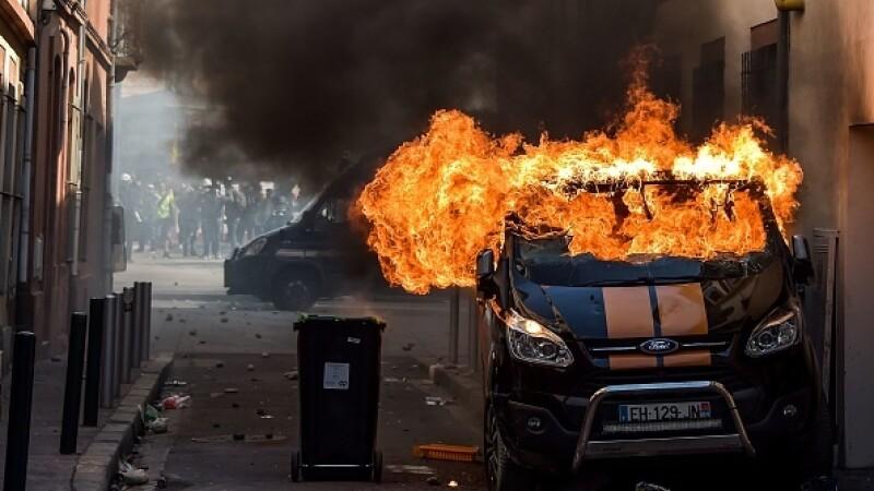 Violente la Toulouse, Franța - 1
