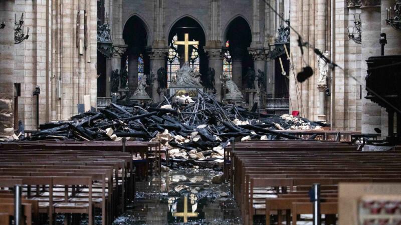 Primele imaginii din interiorul Catedralei Notre Dame - 6
