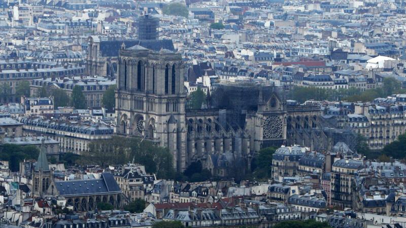 Imagini spectaculoase, filmate din dronă. VIDEO: cum arată acum catedrala Notre Dame