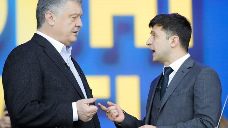 Petro Poroşenko si Volodimir Zelenski