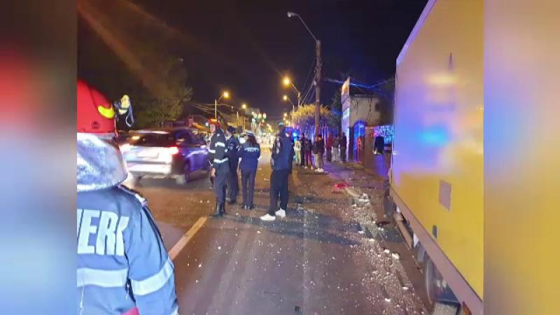 Dezastrul făcut de un şofer din Piteşti, după ce a rupt ţeava de gaze. Cât băuse înainte