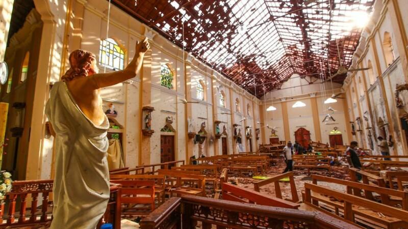 Gestul straniu făcut de unul dintre teroriștii din Sri Lanka înainte de a se detona