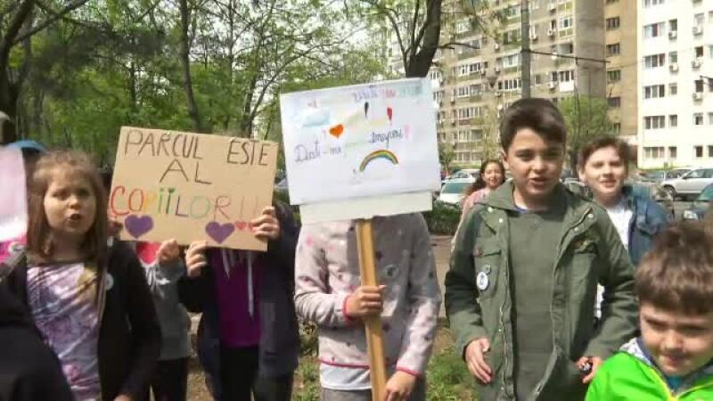 protest copii parc