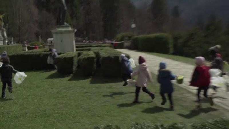 Vânătoare de ouă de Paşte la Castelul Peleș. Ce le-au pregătit angajații copiilor