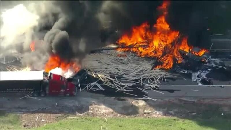 Autostrada infernului. 4 morți și zeci de răniți, după ce 28 de mașini s-au ciocnit în lanț