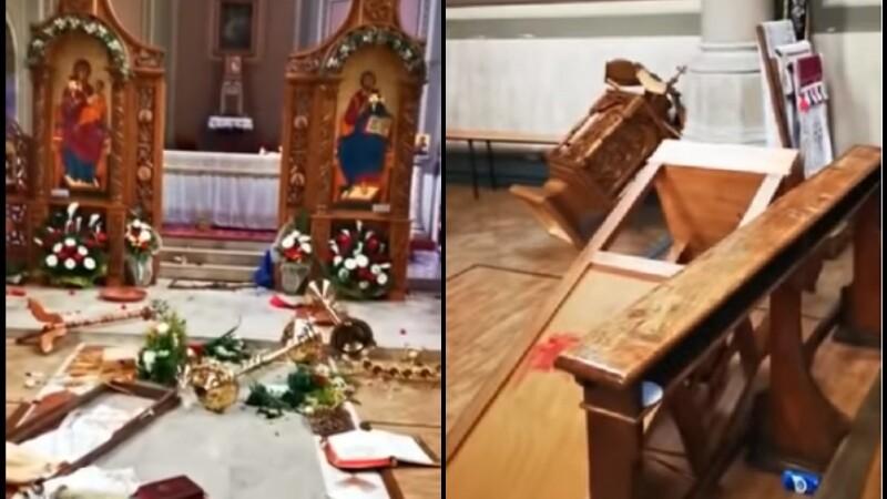 Biserica devastată de 2 români, în Italia