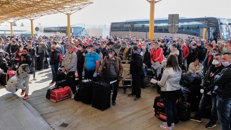 aglomeratie pe aeroportul din Cluj