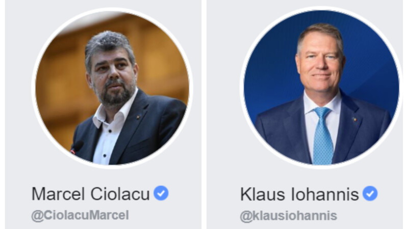 Marcel Ciolacu, Klaus Iohannis, Facebook