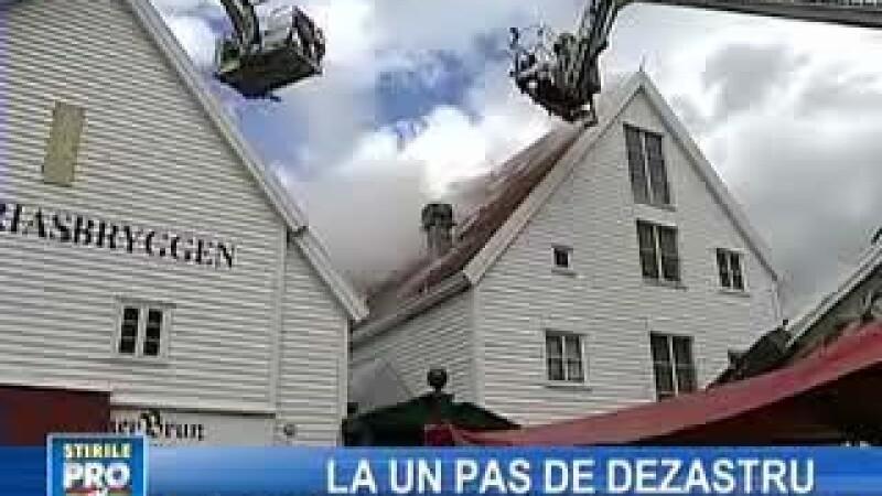 Oraşul norvegian Bergen, la un pas de dezastru