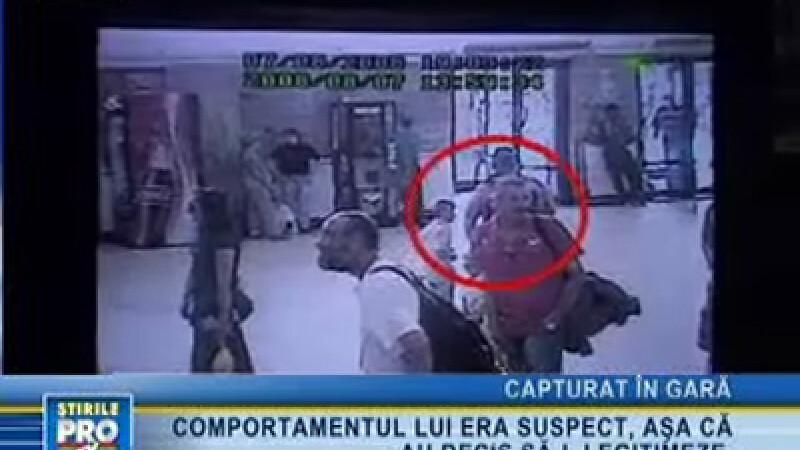 Evadatul, surprins de camerele video din gara Braşov