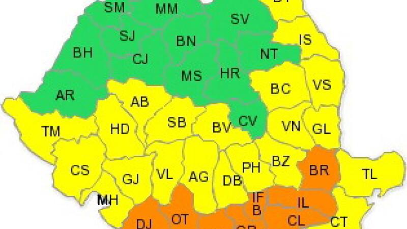 Cod galben de canicula pentru 11 judete si municipiul Bucuresti!