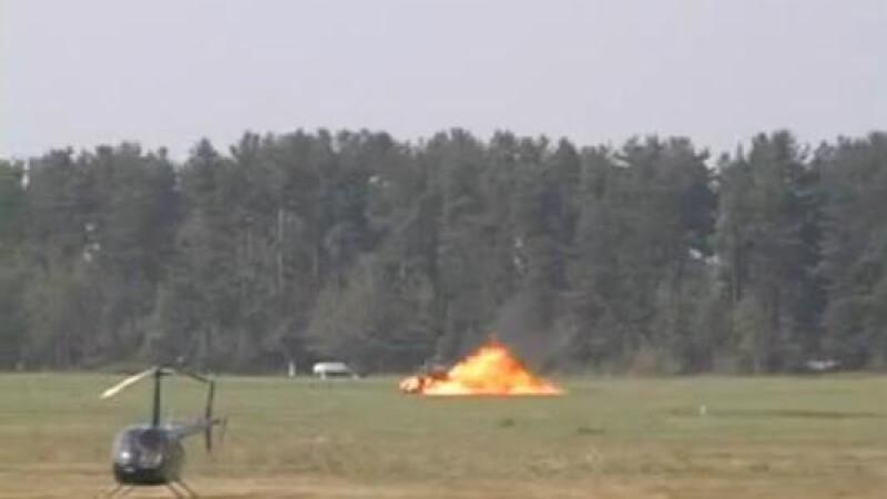 Elicopter explodat