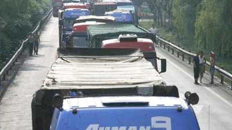 Blocaj in trafic, China