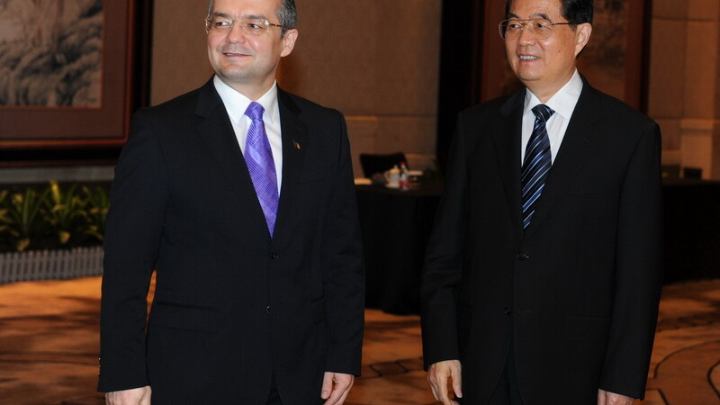 Emil Boc si Hu Jintao