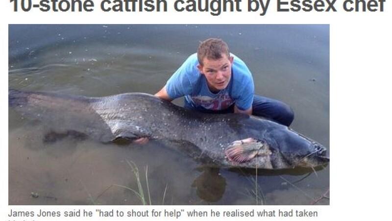 Un barbat a reusit sa prinda cel mai mare peste de apa dulce din istoria Marii Britanii