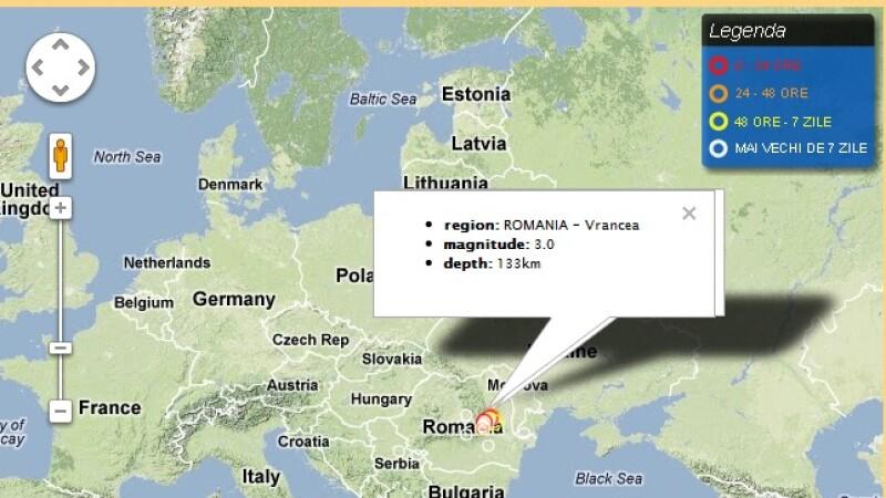 Patru cutremure s-au produs duminica, in zona Vrancea. Cel mai mare a avut magnitudinea de 3,4 grade