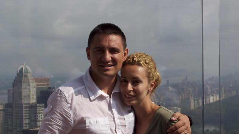 George Buhnici cu sotia Lorena