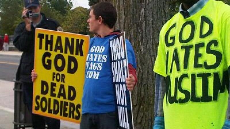 Westboro Baptist Church, proteste