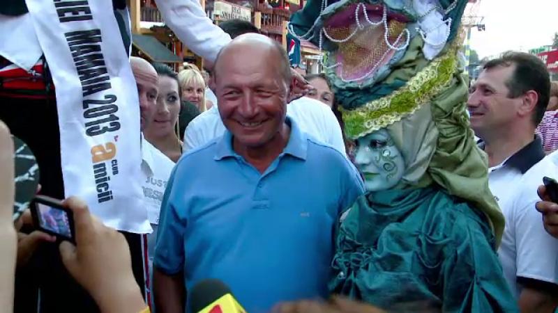 Traian Basescu la Mamaia