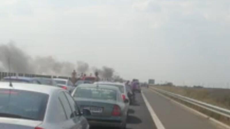 incendiu Autostrada Soarelui