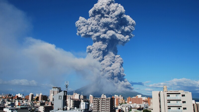 Vulcanul Sakurajima