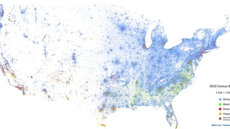 Harta rasiala a SUA