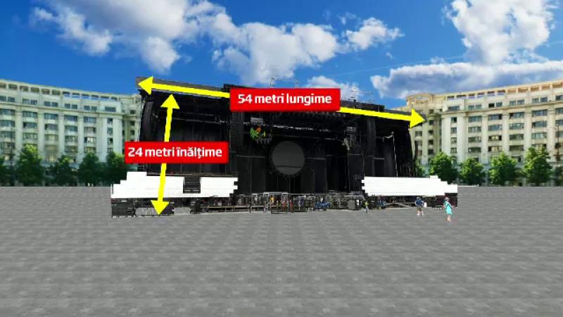 grafica scena concert Roger Waters