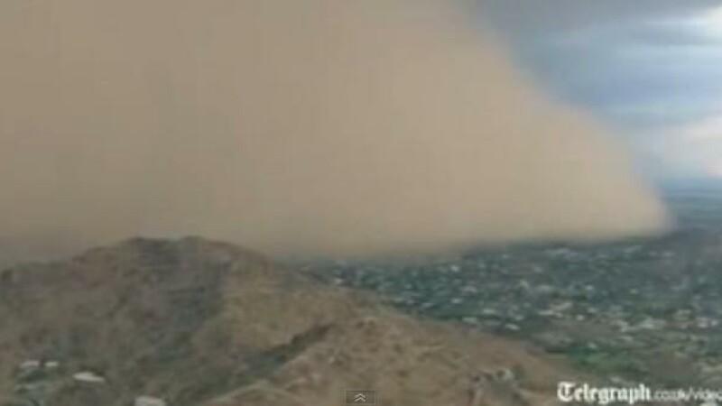Imagini apocaliptice in SUA. O furtuna uriasa de nisip a lovit orasul Phoenix. VIDEO