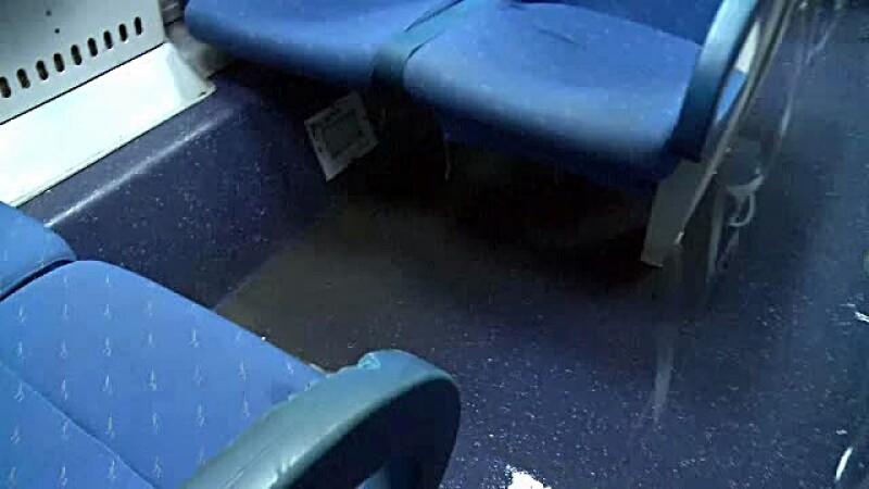 Tren inundat