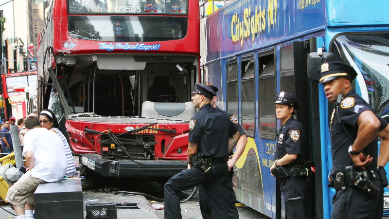 Accident in Times Square