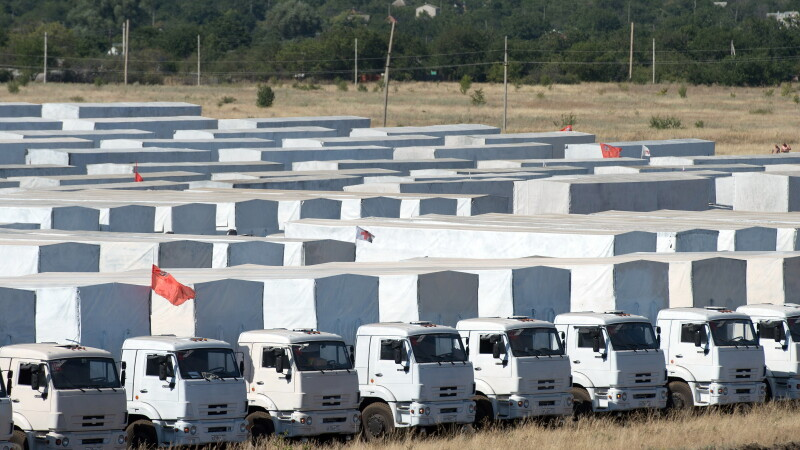Convoi rusesc de camioane