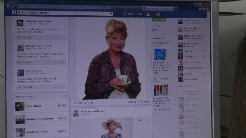 Escrocii se folosesc online de numele Rodicai Popescu Bitanescu. Actrita fara calculator, dar cu conturi false pe Facebook