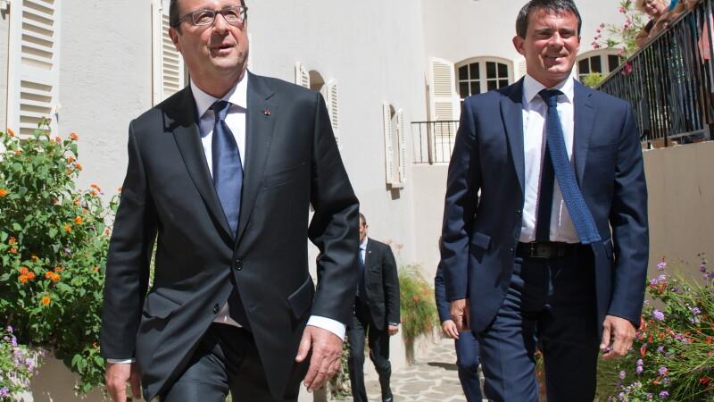 Manuel Valls si Francois Hollande