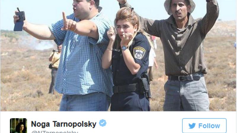 palestinieni, politista israel