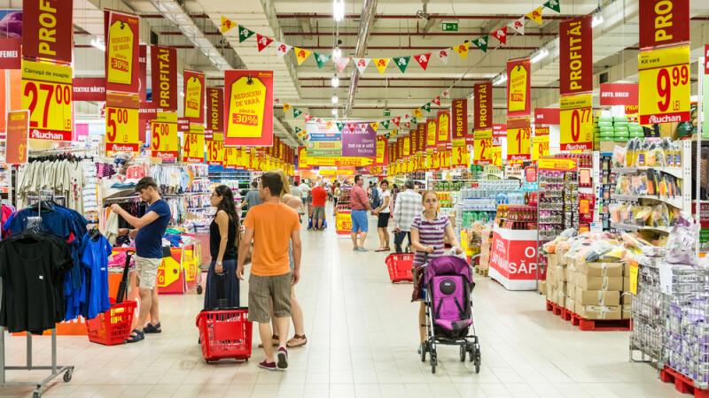 hypermarket, supermarket, Romania - shutterstock