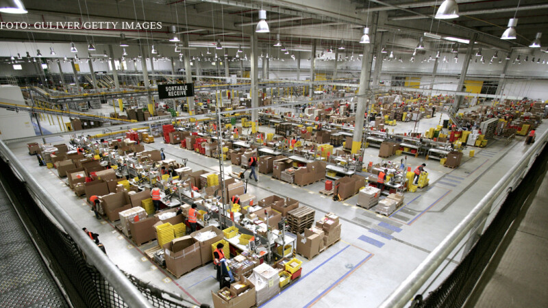 centrul logistic al Amazon